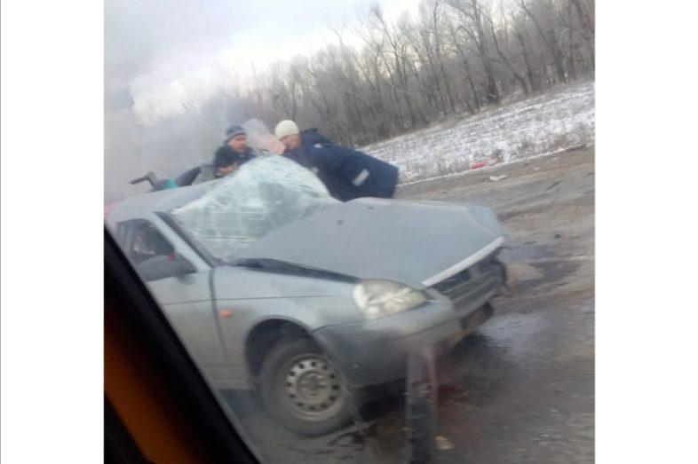 Тройная авария на трассе Оренбург-Беляевка