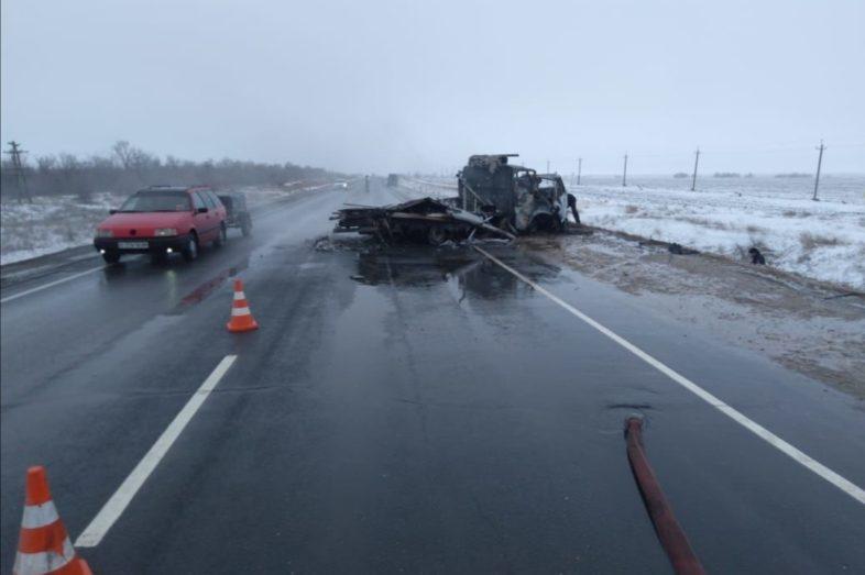 Трагедия на трассе Оренбург-Акбулак. Погибли четыре человека