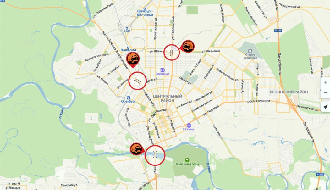 """""""Ямочный Оренбург"""". Карта опасных дорог"""