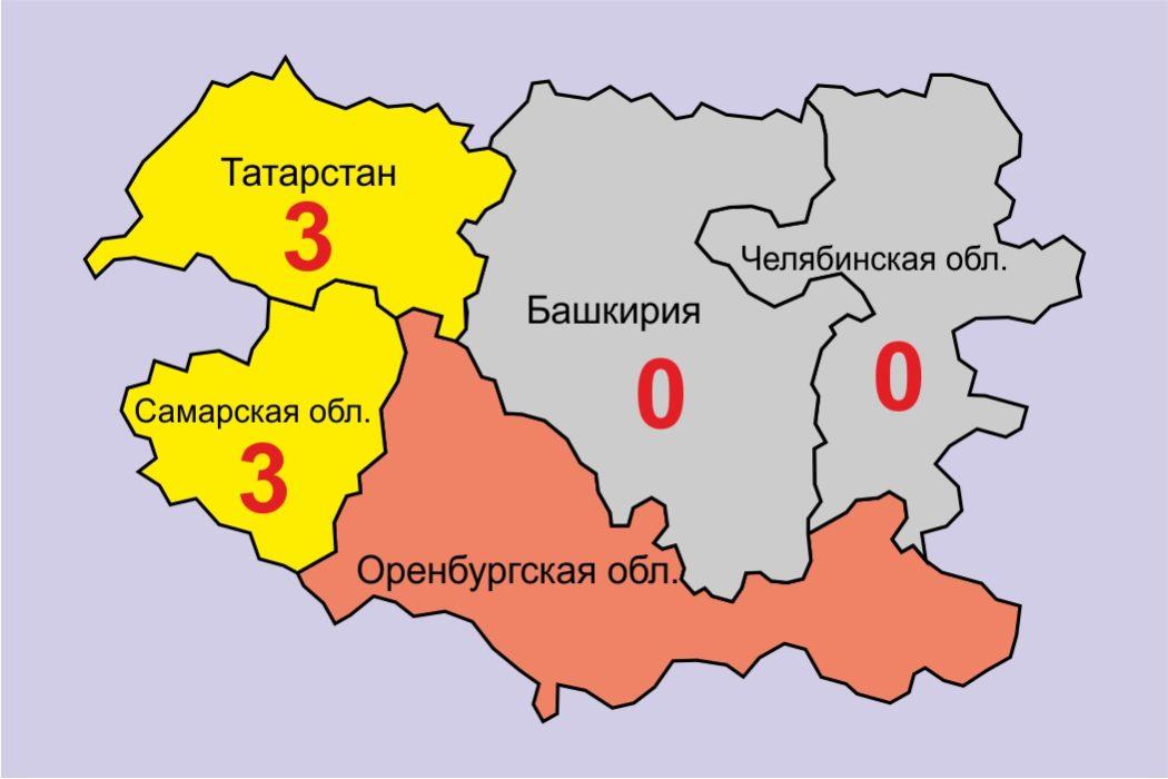 Соседи Оренбургской области обеспокоены случаями заражения коронавирусом
