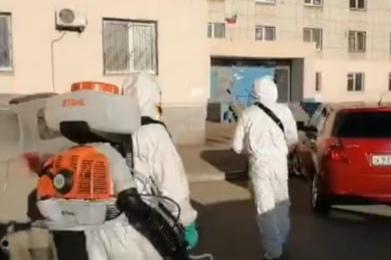 В Орске жителей шокировала дезинфекция от коронавируса