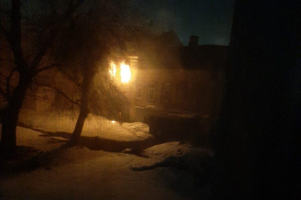 В историческом центре Оренбурга ночью произошел пожар