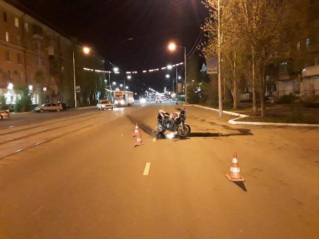 В Новотроицке пострадал 16-летний мотоциклист