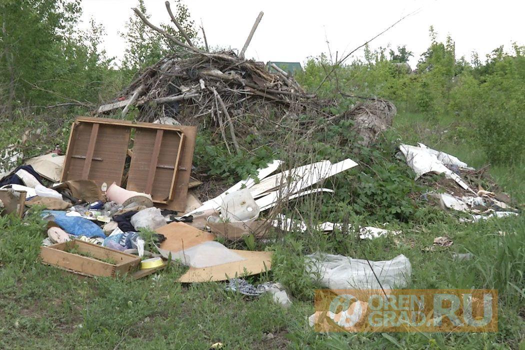 Оренбургские СНТ завалены мусором