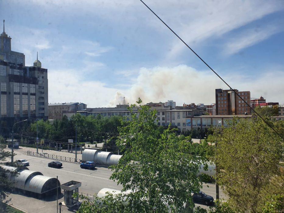 Под Оренбургом произошел крупный пожар