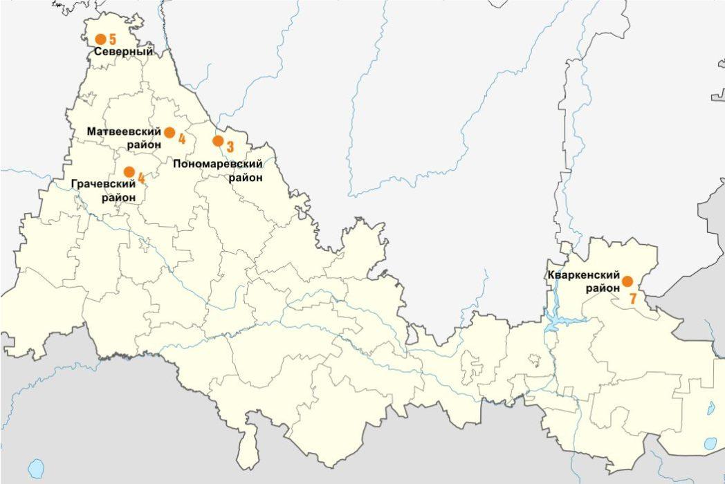 Топ-пять самых зараженных коронавирусом территорий Оренбуржья