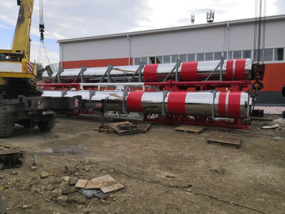 Т Плюс завершил монтаж дымовой трубы новой блочно-модульной котельной в Оренбурге