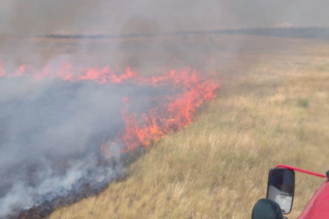 В Первомайском районе Оренбуржья из-за природного пожара ввели режим ЧС