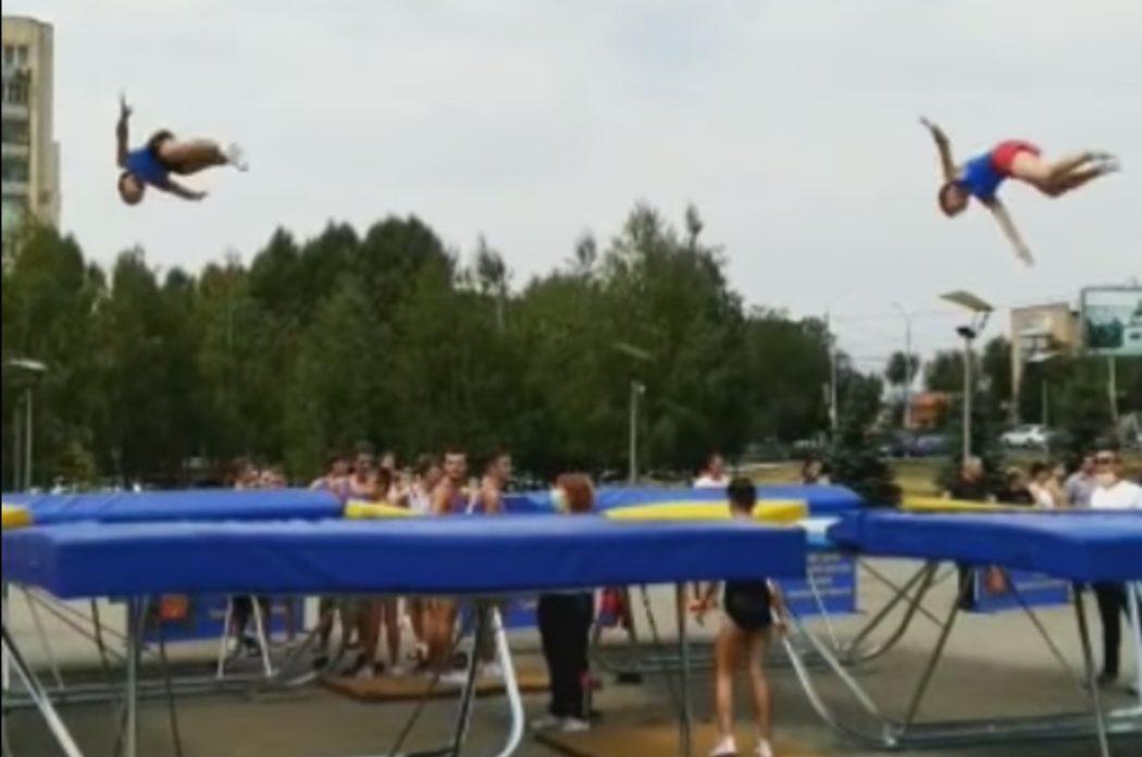 Над Оренбургом пролетел олимпийский мишка