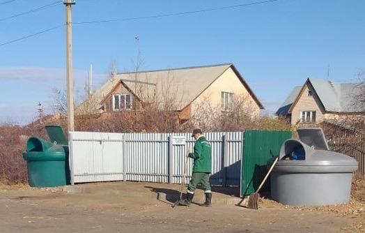 Подгородне-покровский сельсовет очистил контейнерные площадки от крупногабаритных отходов