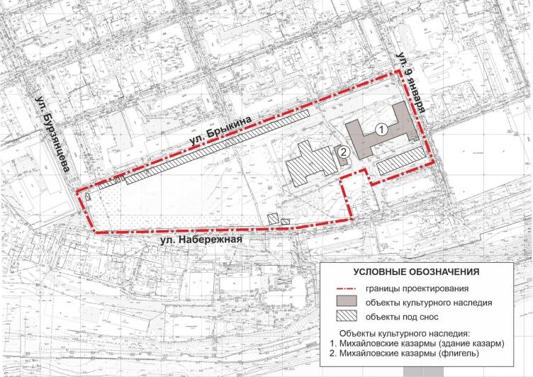 В Оренбурге территорию Михайловских казарм застроят многоэтажками