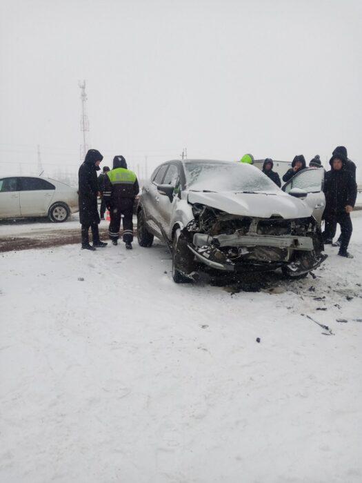 Под Татарской Каргалой в ДТП попали шесть автомобилей