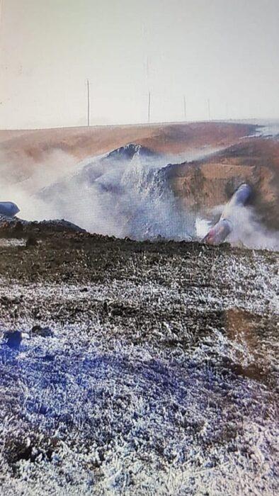 В Сети появилось видео с места ЧП на газопроводе в Илекском районе