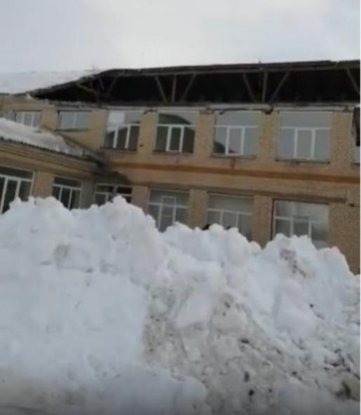 В одной из школ Оренбуржья обрушилась крыша