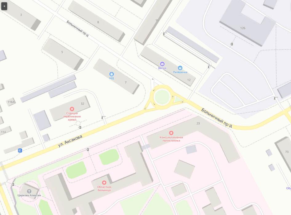 Оренбургским автомобилистам следует быть внимательнее на пересечении улицы Аксакова и Больничного проезда