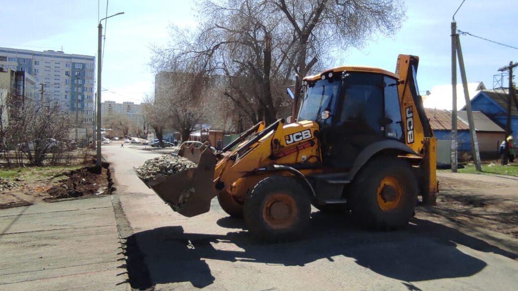 На улице Парковской Оренбурга ремонт дороги оценили в крупную сумму