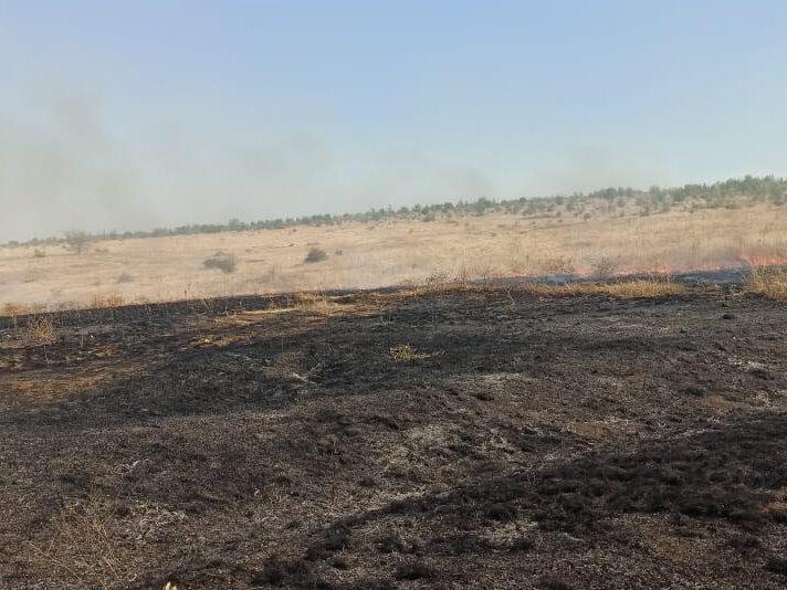 В Подгородней Покровке потушен степной пожар