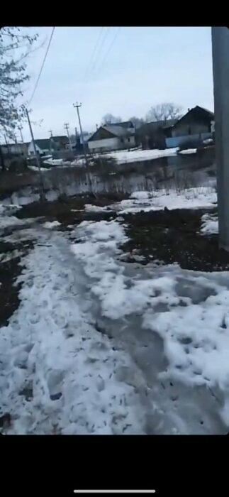 В Ташлинском районе часть села из-за паводка отрезана от суши