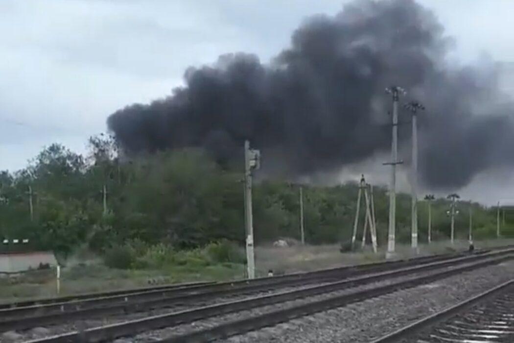 В Оренбургской области произошел пожар на АЗС