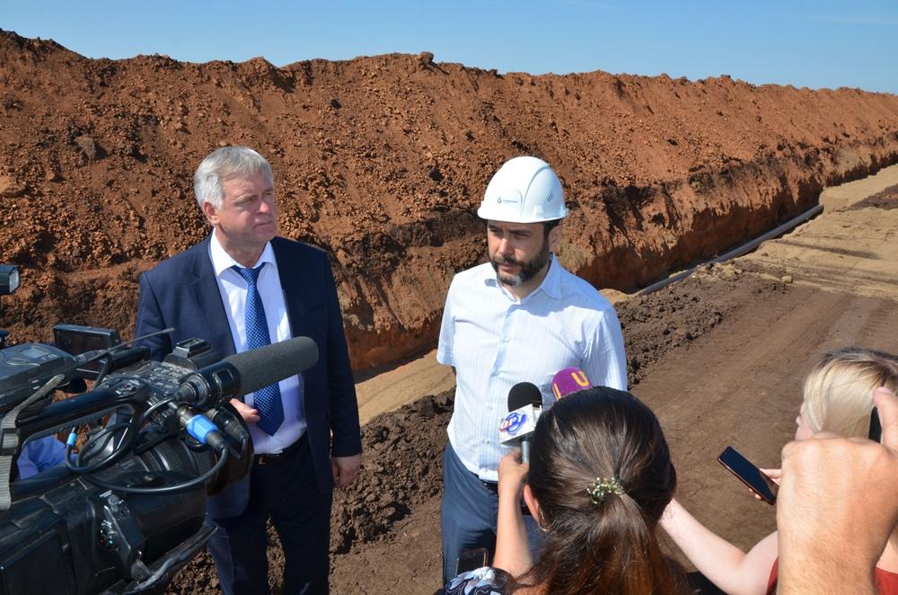 «Росводоканал Оренбург» строит канализационный коллектор для жителей Пригородного и Нежинки