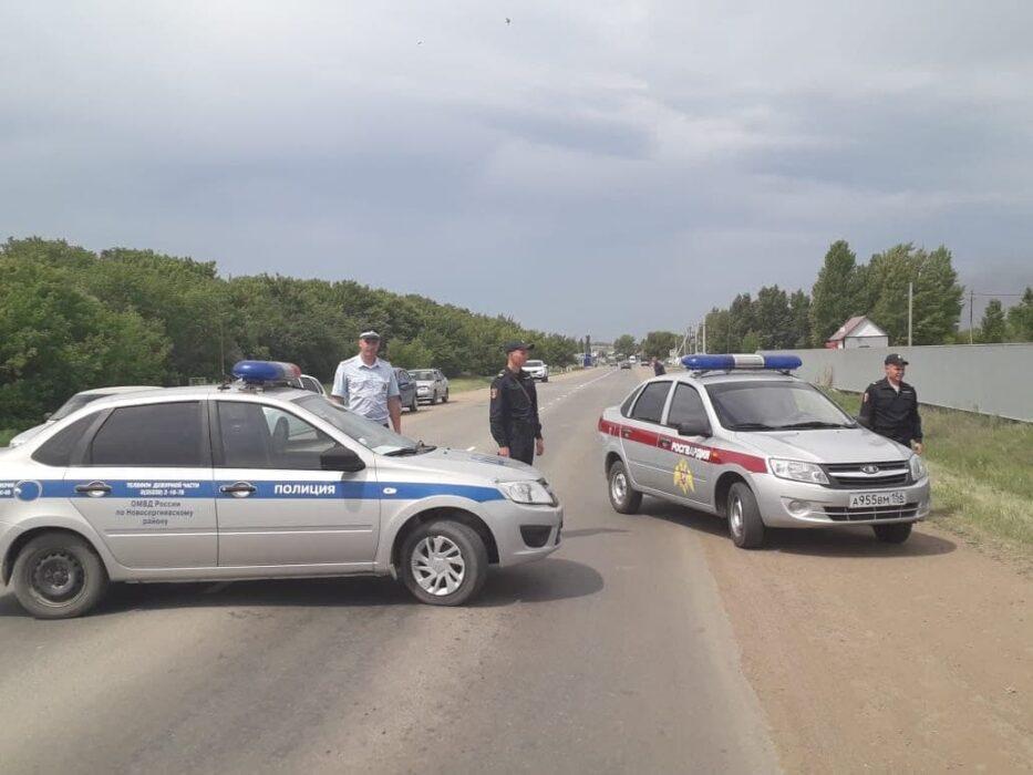 В Новосергиевке загорелись два бензовоза