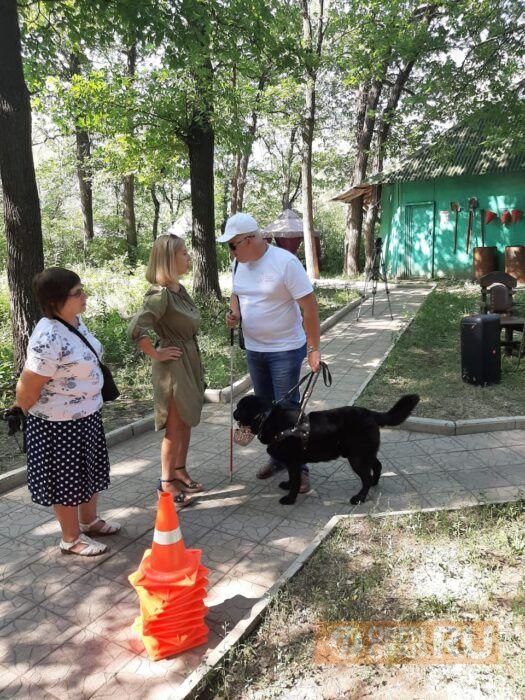 В Оренбурге собаки-поводыри продемонстрировали свои умения