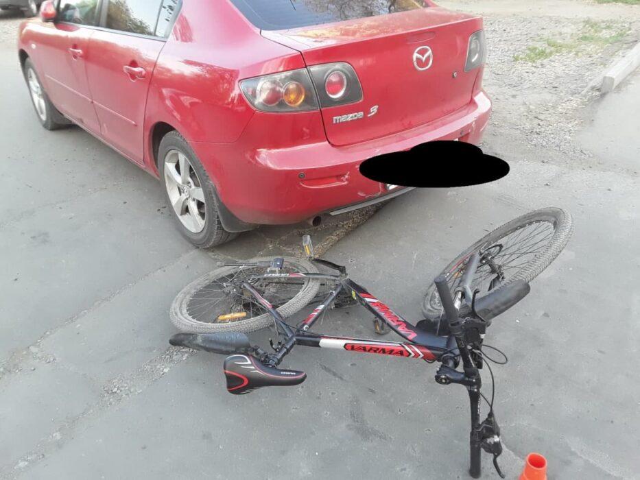 В Орске автоледи на иномарке сбила юную велосипедистку