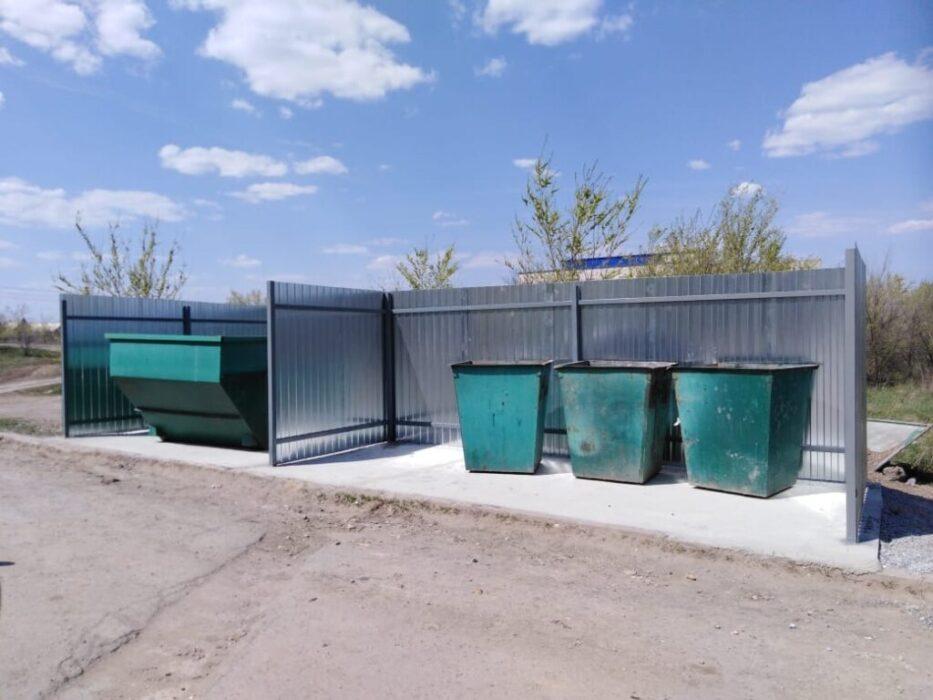 В Оренбургском районе обустроено 48 новых точек сбора мусора