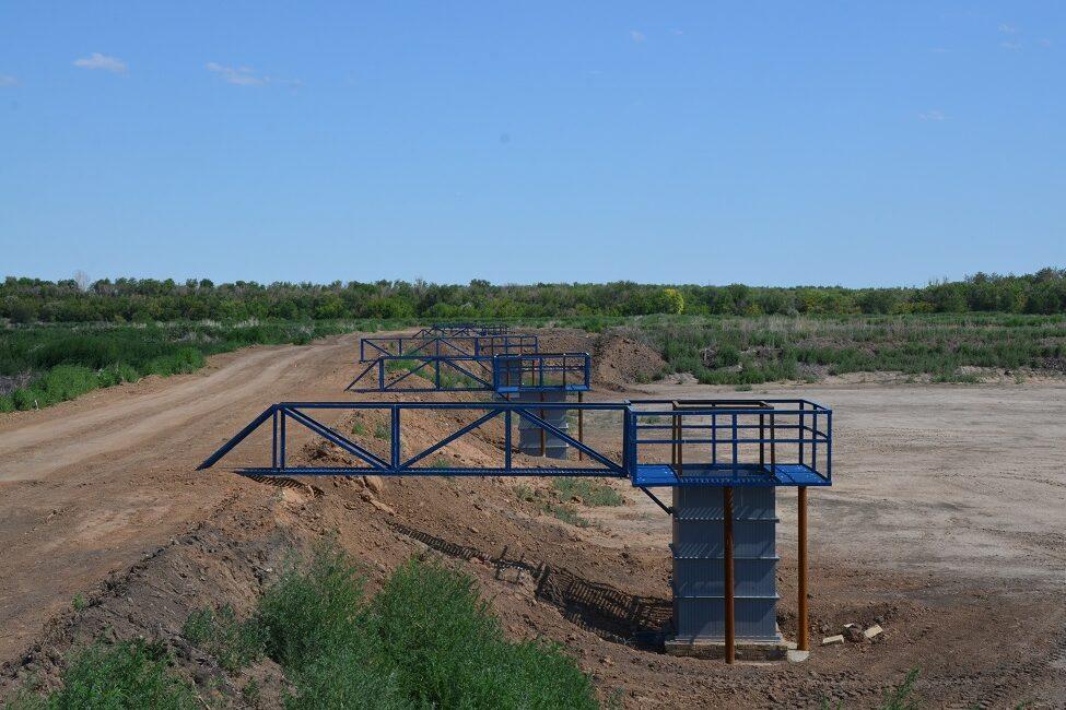 «Росводоканал Оренбург» применил на иловых полях систему «мокрого барьера»