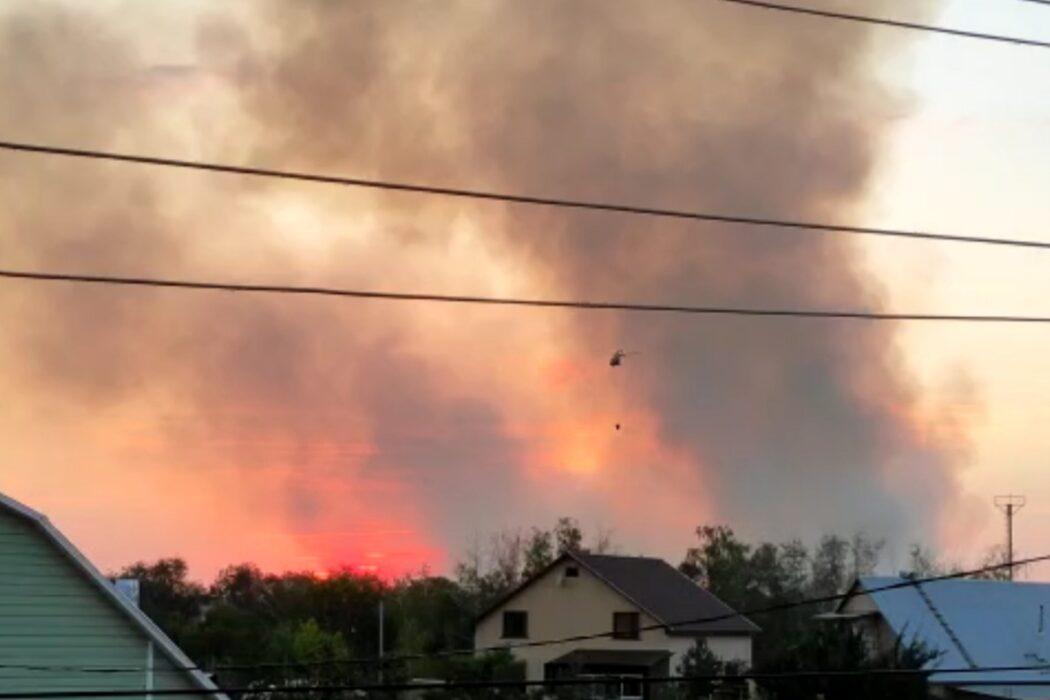 МЧС опубликовало видео с эпицентра пожара в Оренбурге