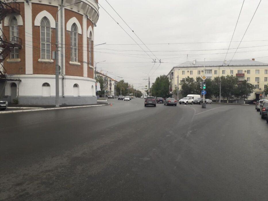 В центре Оренбурга водитель автобуса сбил пожилого велосипедиста