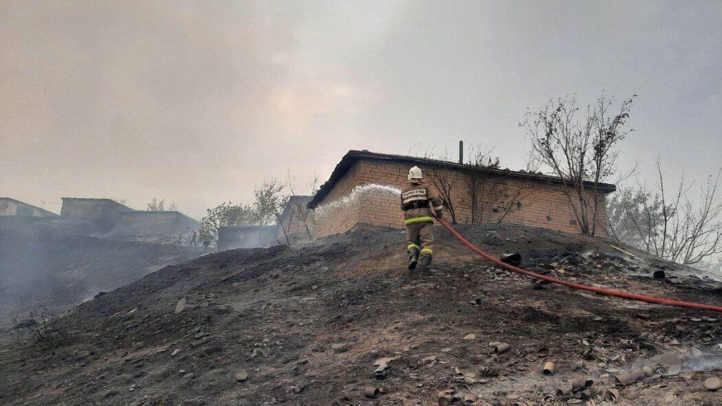 В Медногорске ликвидировали крупный пожар